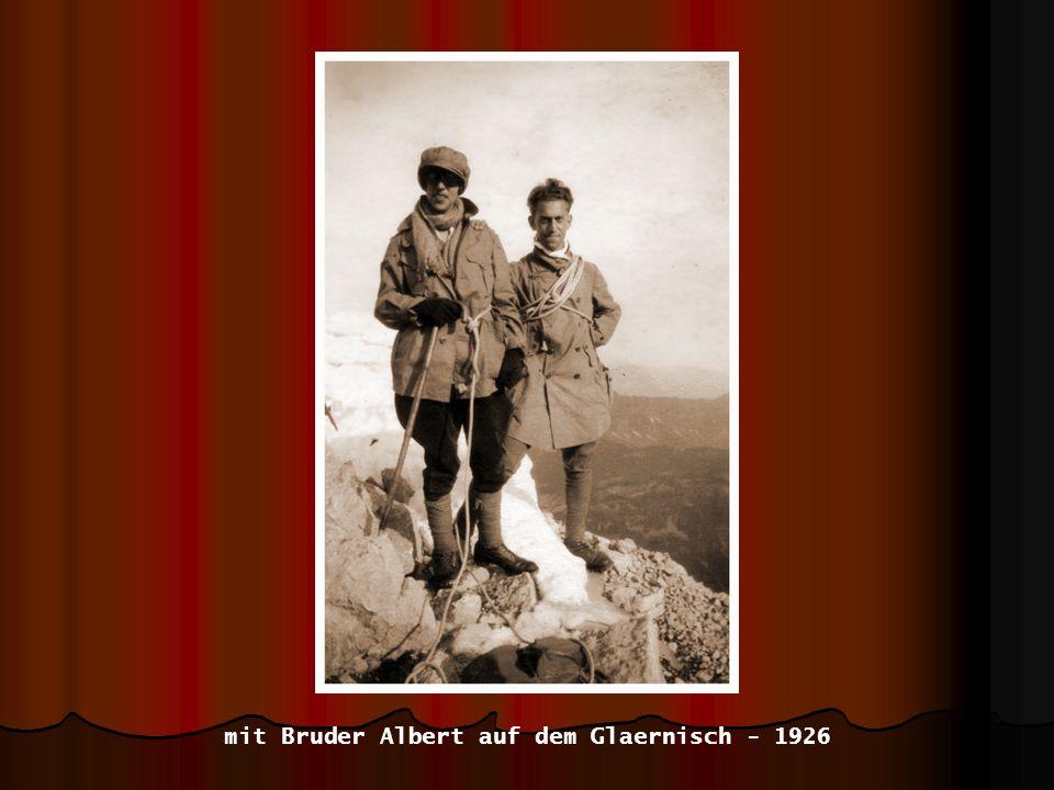 mit Bruder Albert auf dem Glaernisch - 1926