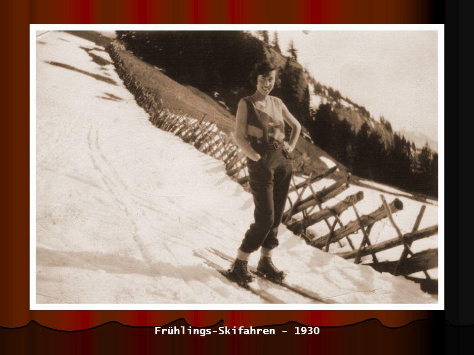 Frühlings-Skifahren - 1930