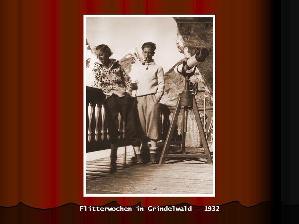 Flitterwochen in Grindelwald - 1932