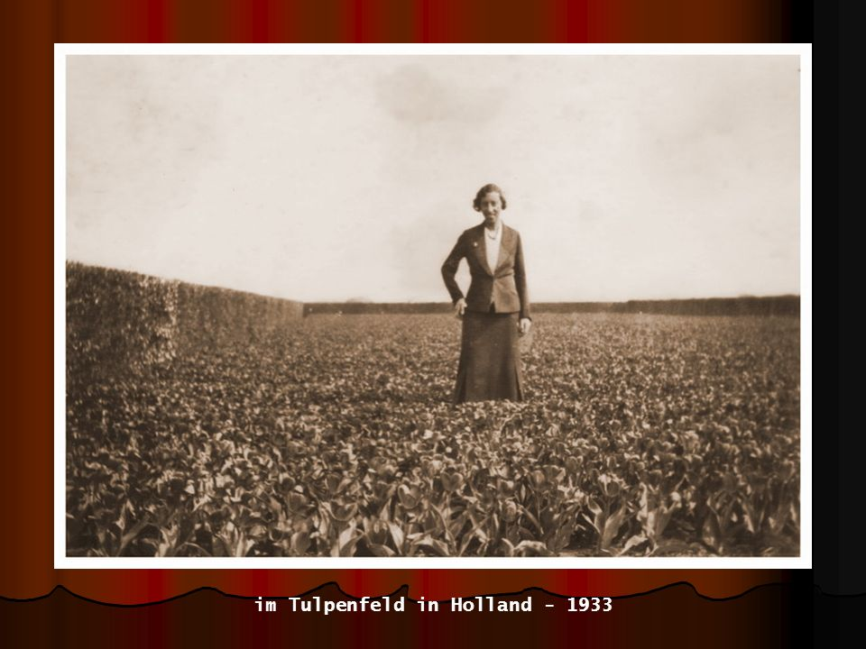 im Tulpenfeld in Holland - 1933