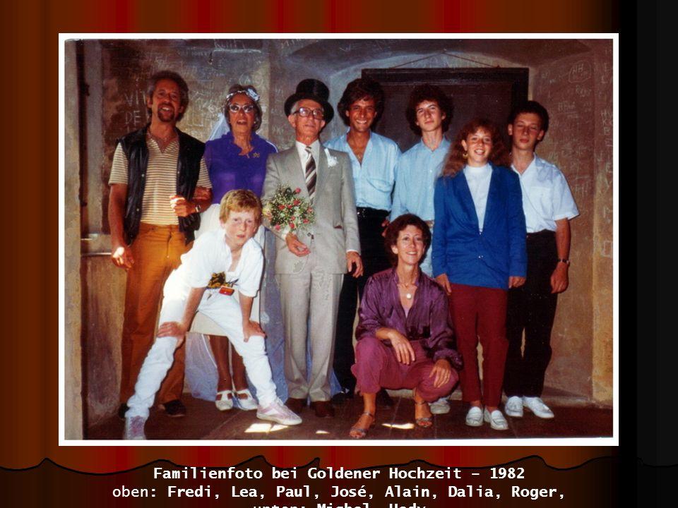 Familienfoto bei Goldener Hochzeit – 1982