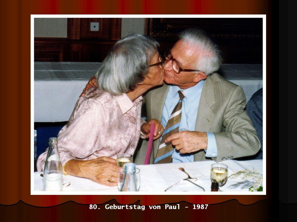 80. Geburtstag von Paul - 1987