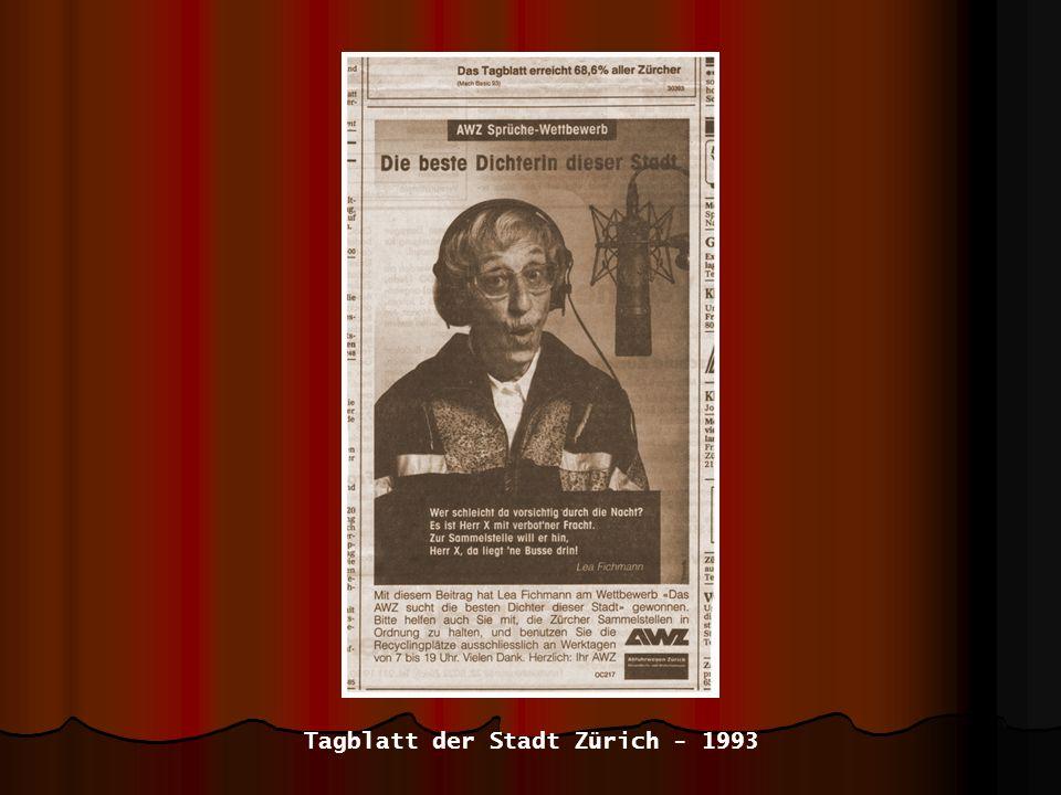 Tagblatt der Stadt Zürich - 1993