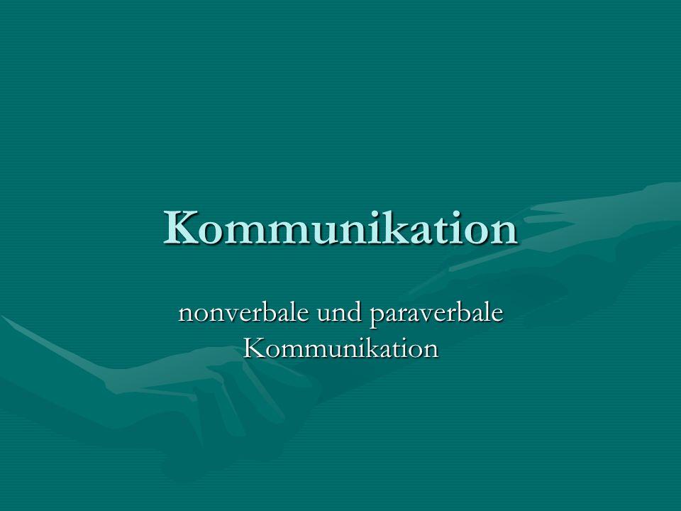 nonverbale und paraverbale Kommunikation