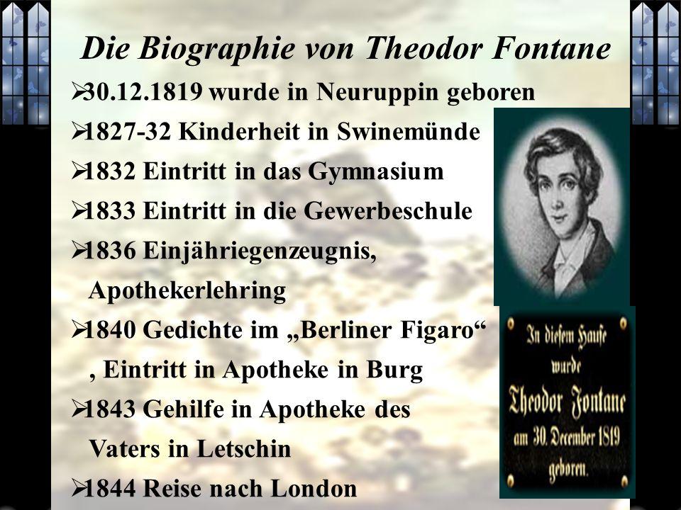Die Biographie von Theodor Fontane