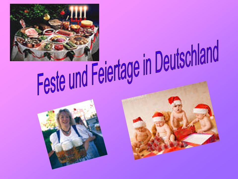 Feste und Feiertage in Deutschland