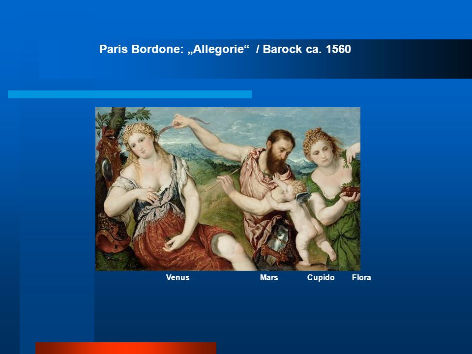 "Paris Bordone: ""Allegorie / Barock ca. 1560"