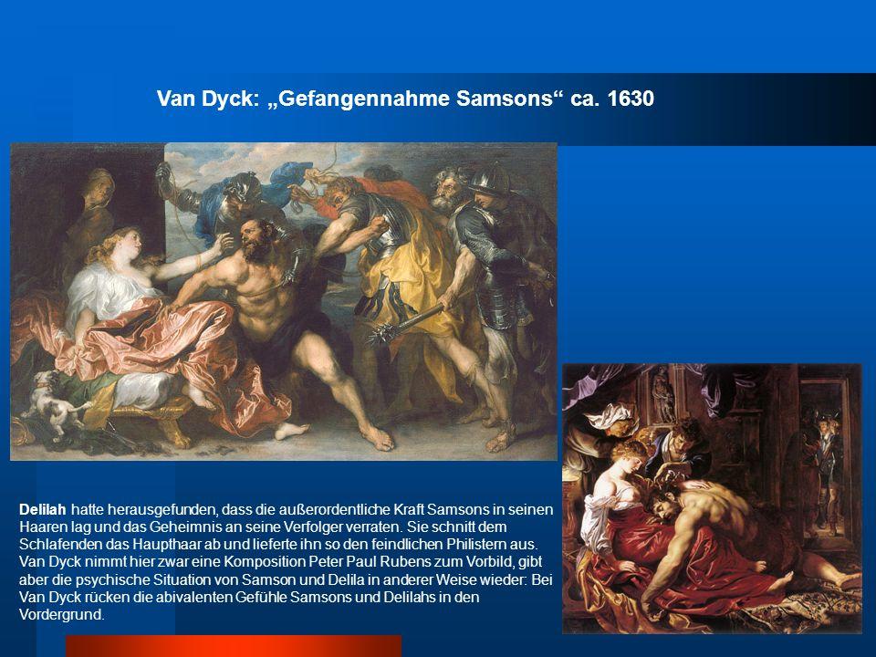 "Van Dyck: ""Gefangennahme Samsons ca. 1630"