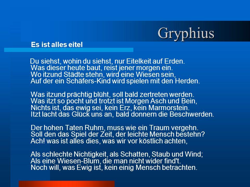 Gryphius Es ist alles eitel