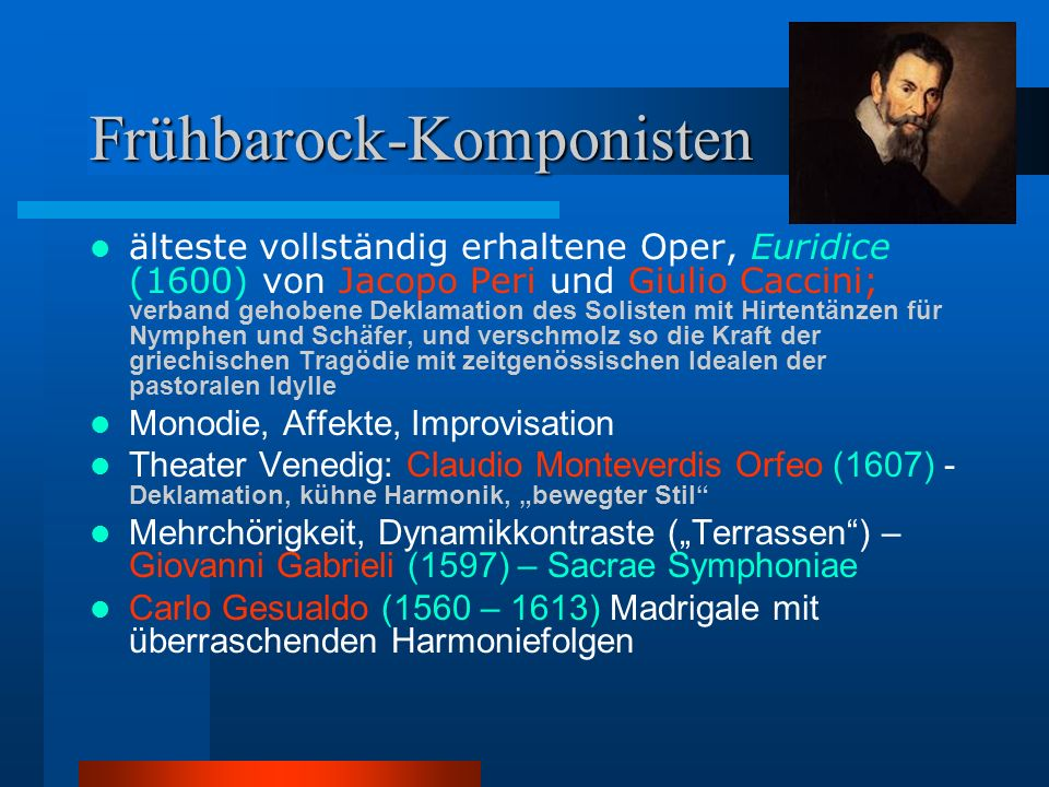 Frühbarock-Komponisten