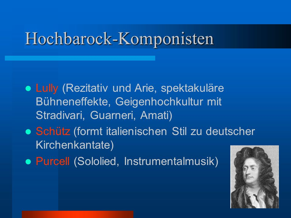 Hochbarock-Komponisten
