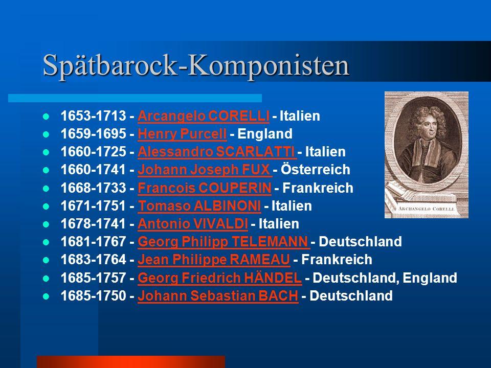 Spätbarock-Komponisten