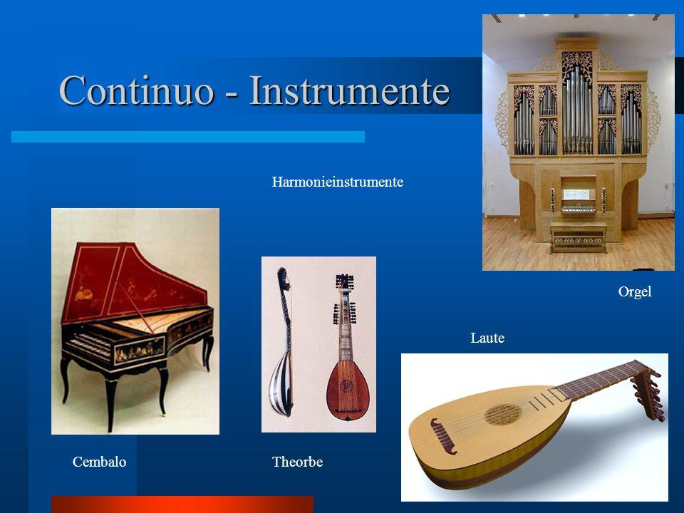 Continuo - Instrumente