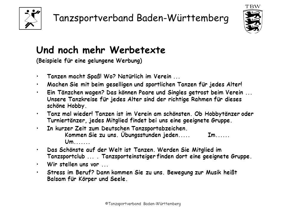 ©Tanzsportverband Baden-Württemberg
