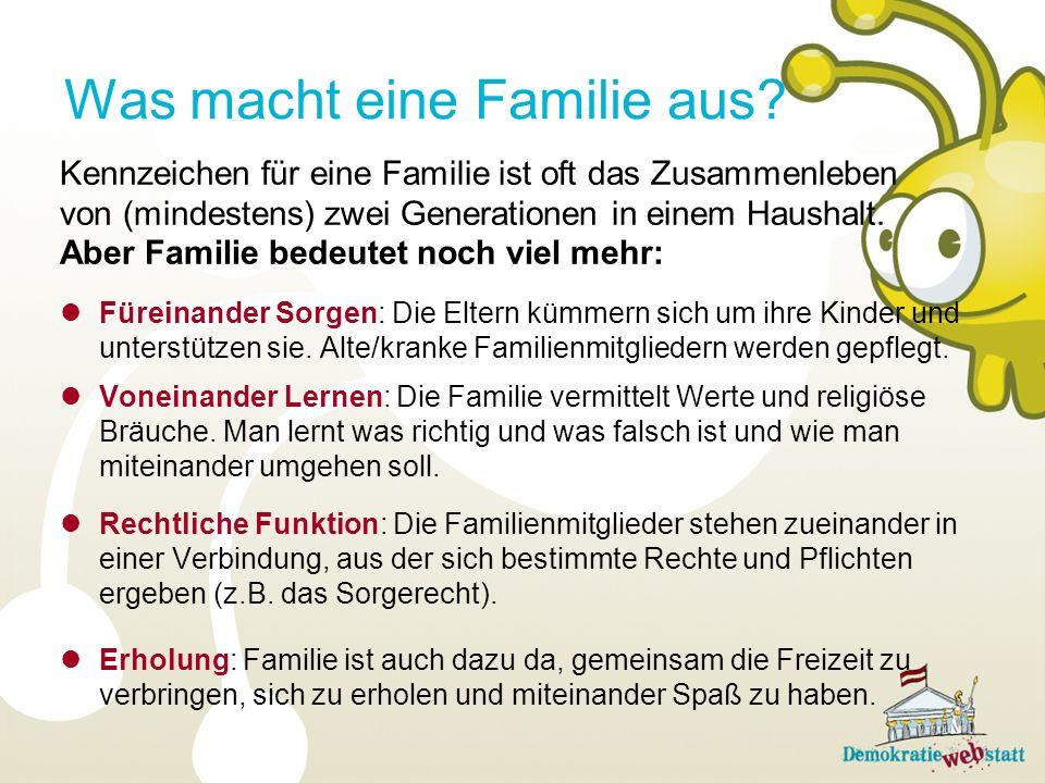 Was macht eine Familie aus