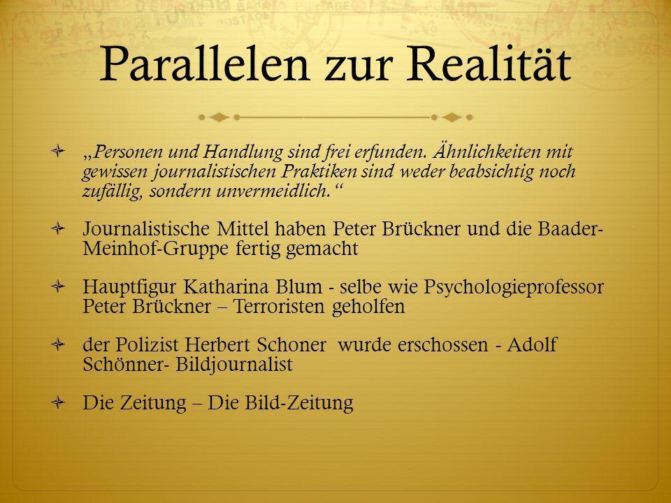 Parallelen zur Realität