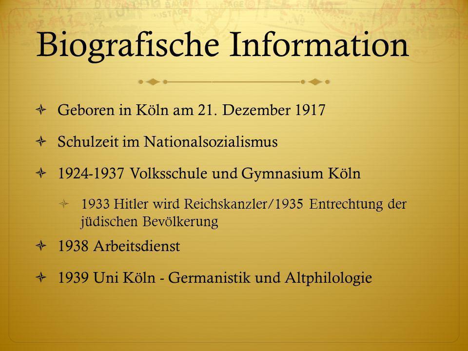 Biografische Information