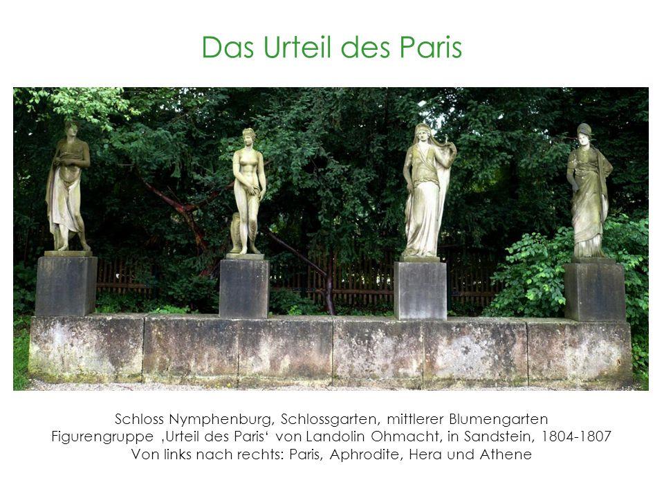 Das Urteil des Paris Schloss Nymphenburg, Schlossgarten, mittlerer Blumengarten.