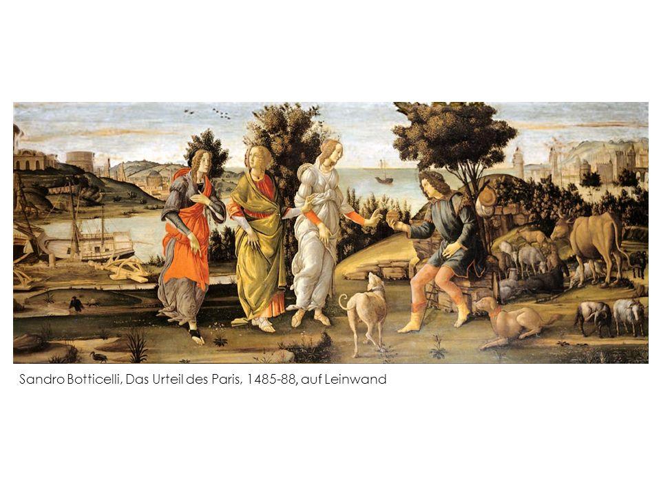 Sandro Botticelli, Das Urteil des Paris, 1485-88, auf Leinwand