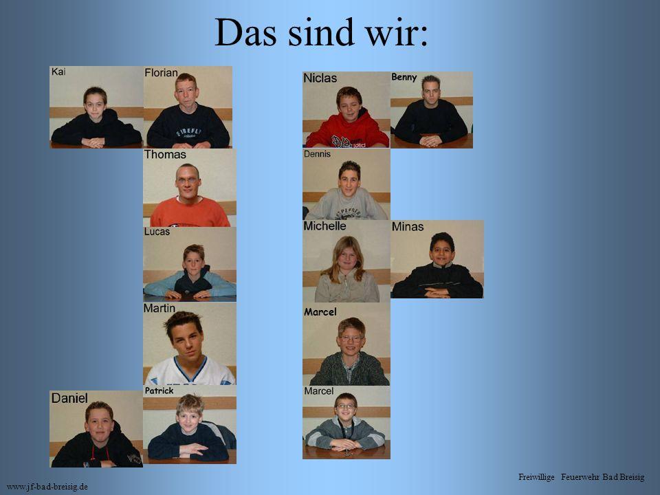 Das sind wir: Marcel Freiwillige Feuerwehr Bad Breisig