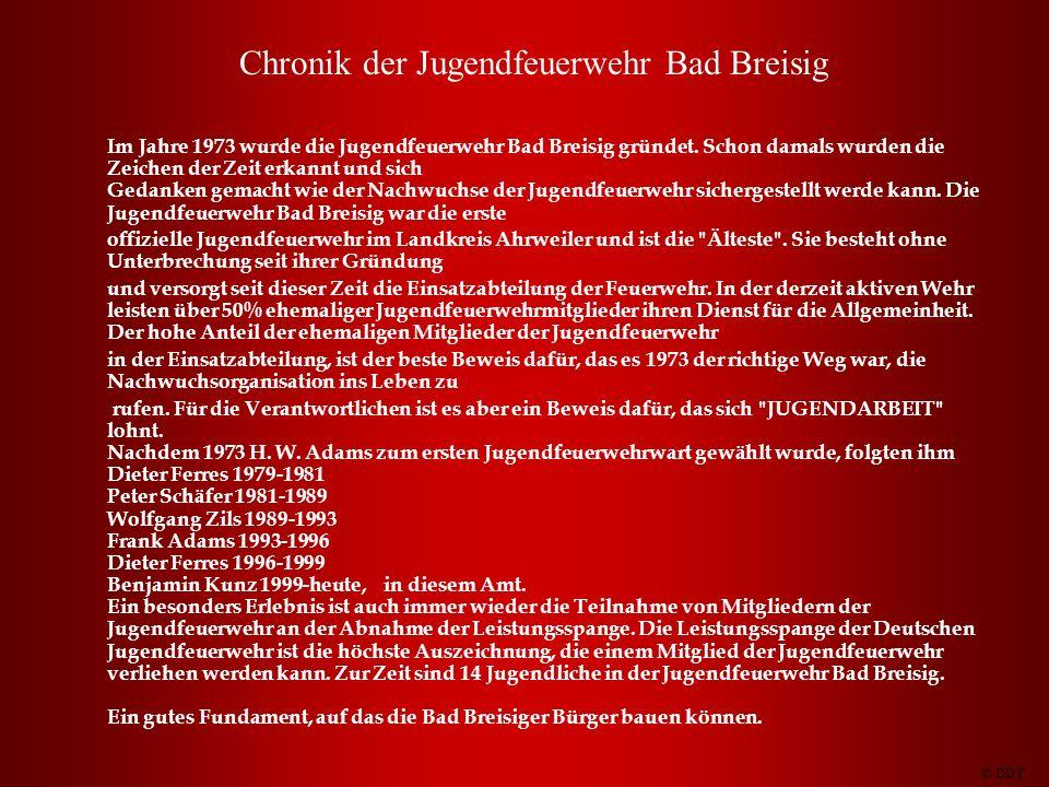 Chronik der Jugendfeuerwehr Bad Breisig