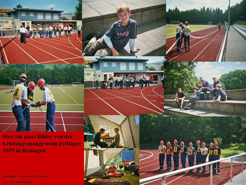 Hier ein paar Bilder von der Leistungsspange beim Zeltlager 2005 in Remagen