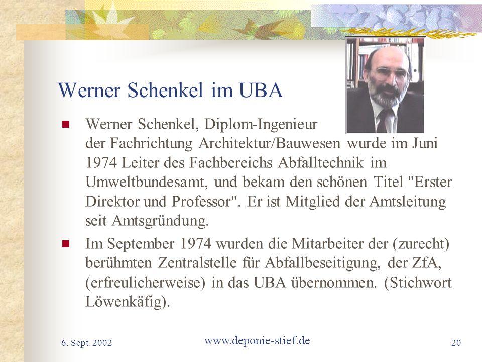 Werner Schenkel im UBA
