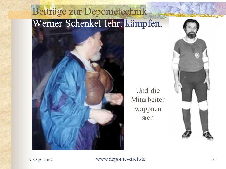 Beiträge zur Deponietechnik Werner Schenkel lehrt kämpfen,