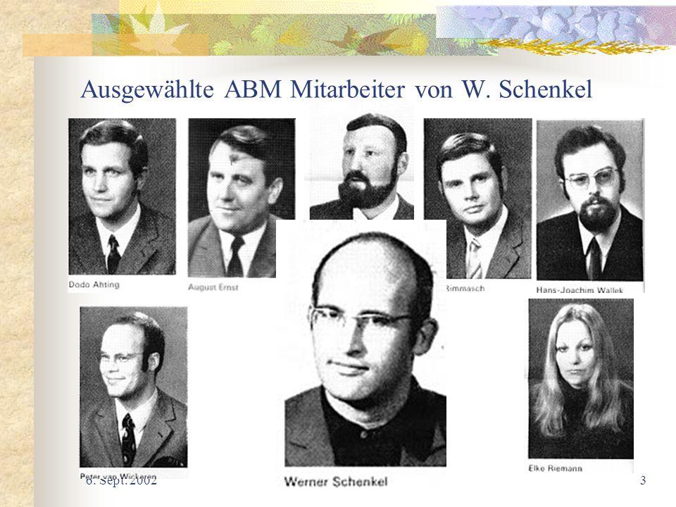 Ausgewählte ABM Mitarbeiter von W. Schenkel