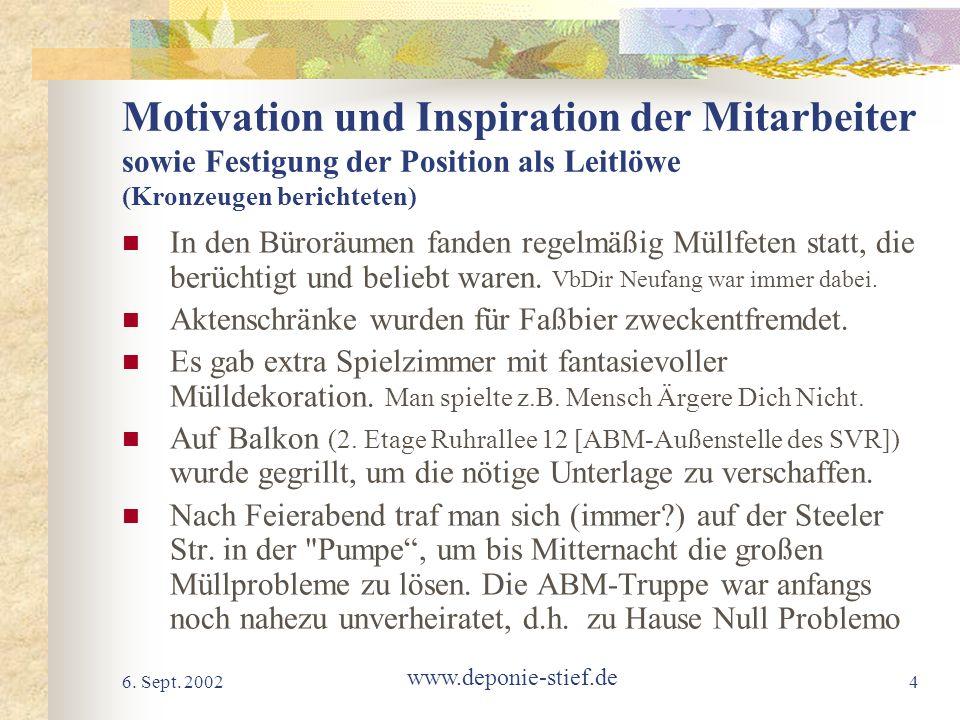 Motivation und Inspiration der Mitarbeiter sowie Festigung der Position als Leitlöwe (Kronzeugen berichteten)