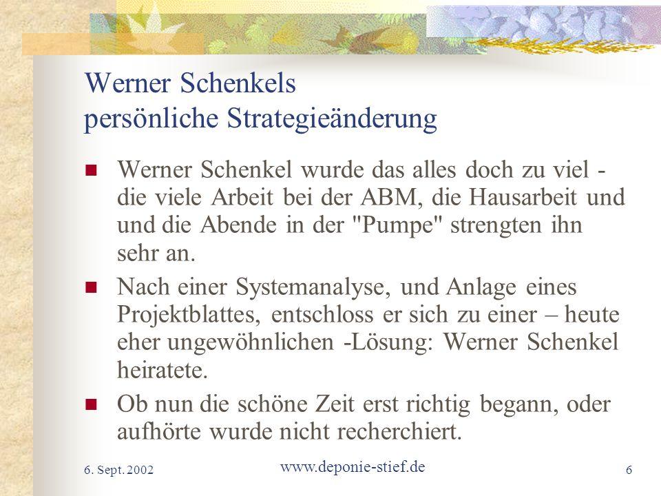Werner Schenkels persönliche Strategieänderung