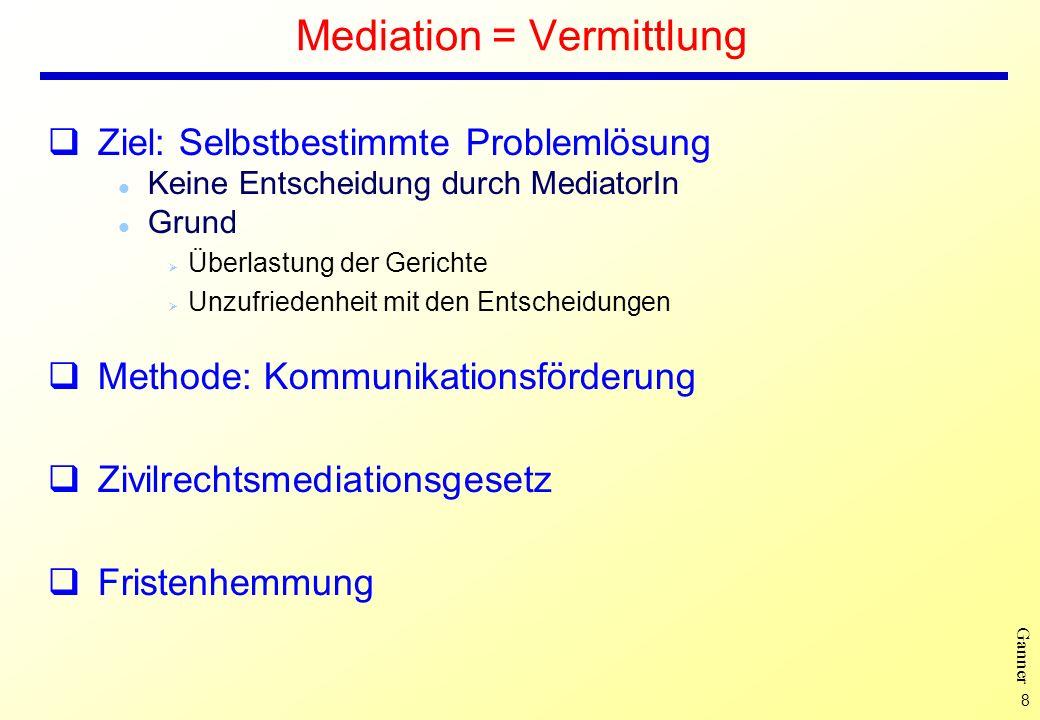 Mediation = Vermittlung