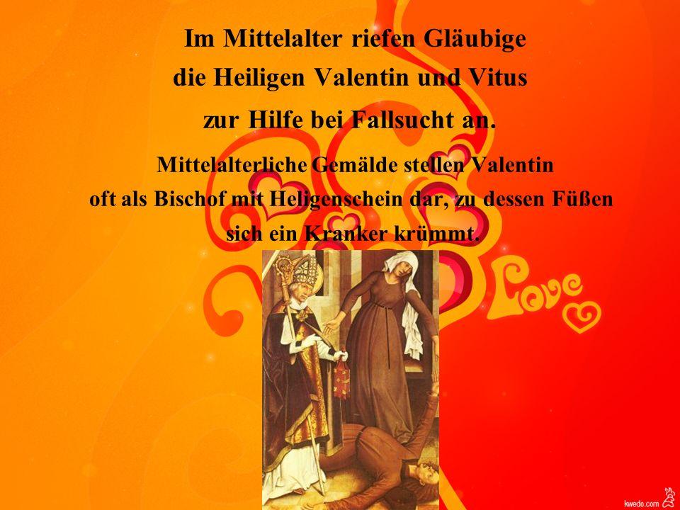 Mittelalterliche Gemälde stellen Valentin