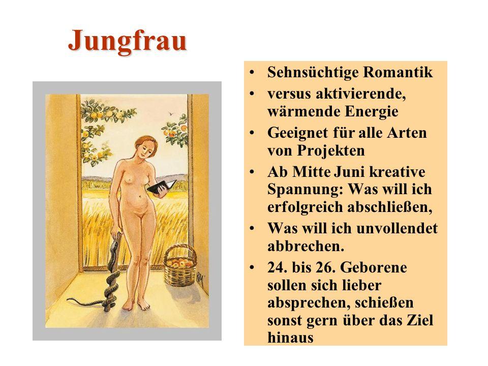 Jungfrau Sehnsüchtige Romantik versus aktivierende, wärmende Energie