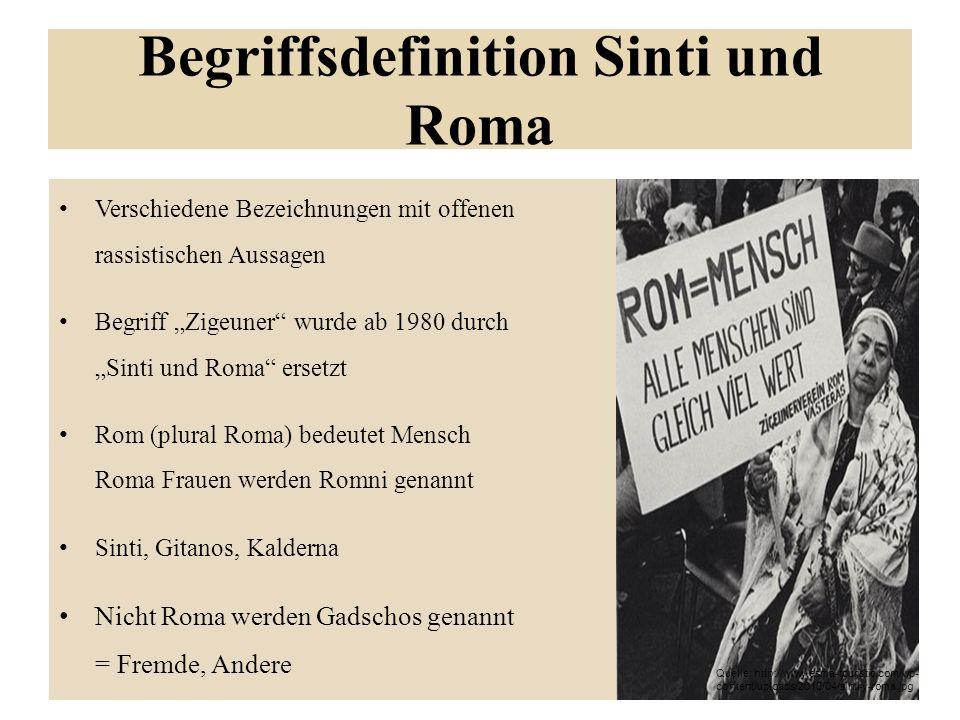 Begriffsdefinition Sinti und Roma