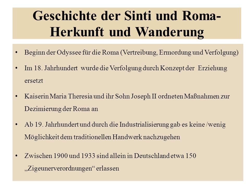 Geschichte der Sinti und Roma- Herkunft und Wanderung