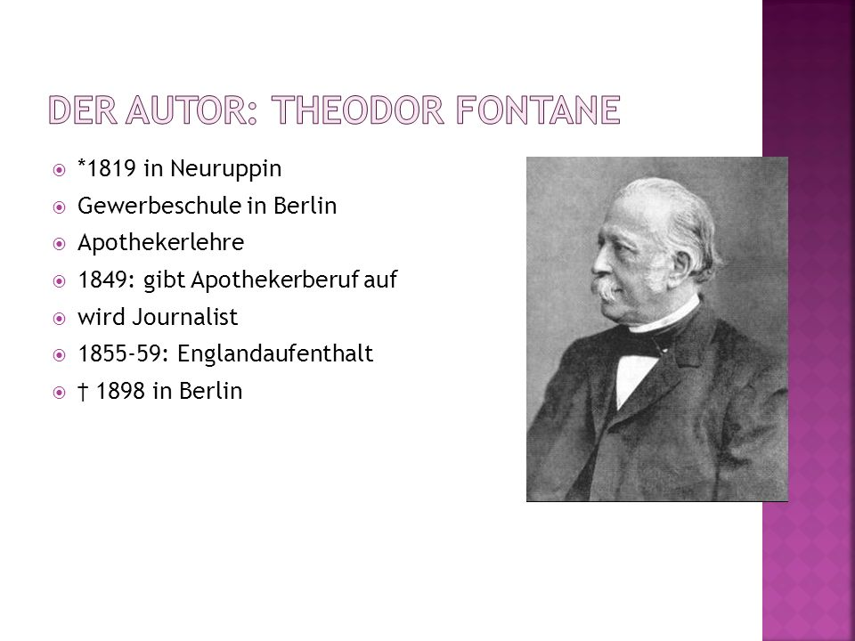 Der Autor: Theodor Fontane