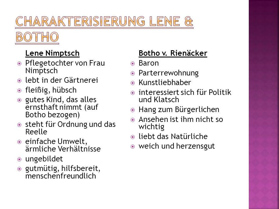 Charakterisierung Lene & Botho