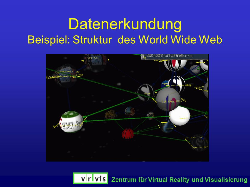 Datenerkundung Beispiel: Struktur des World Wide Web