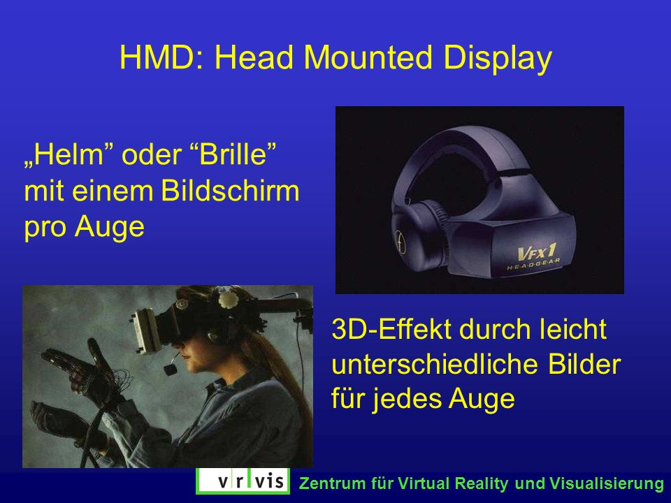 HMD: Head Mounted Display
