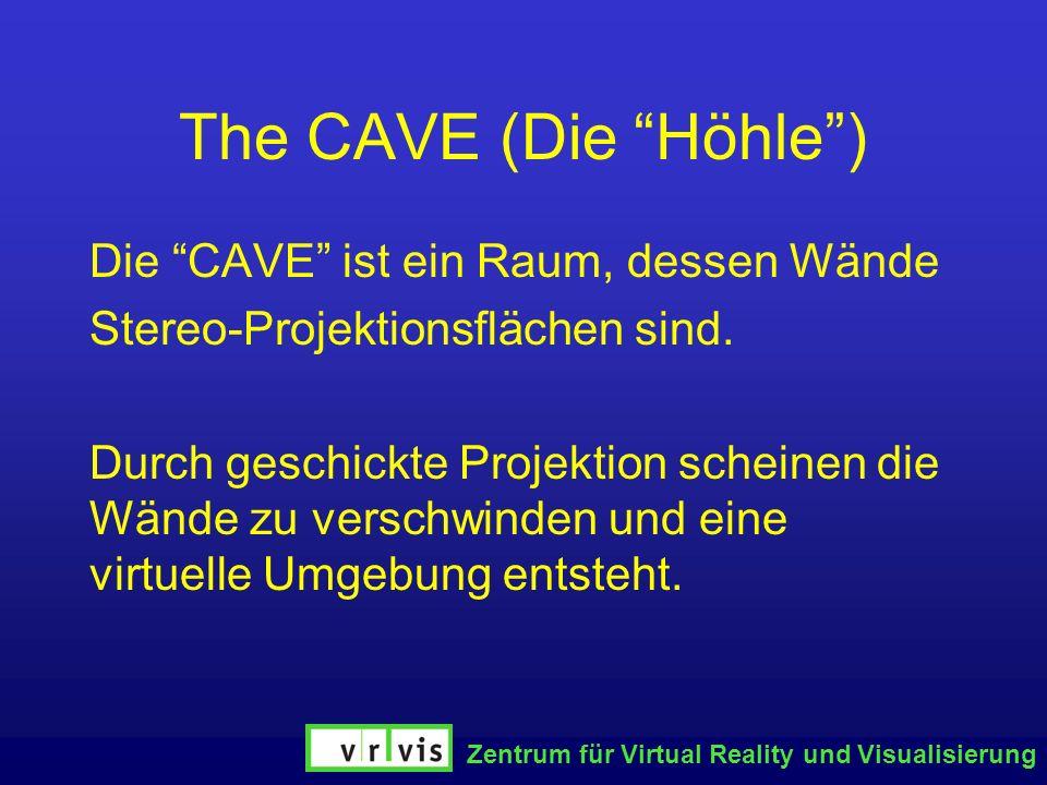 The CAVE (Die Höhle ) Die CAVE ist ein Raum, dessen Wände
