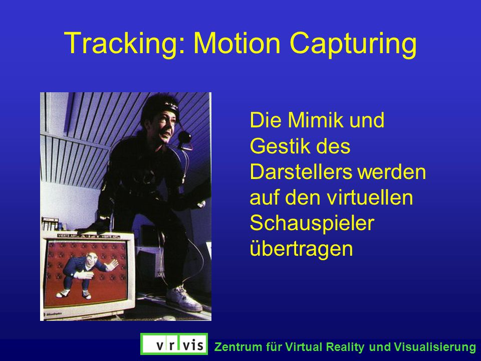 Tracking: Motion Capturing