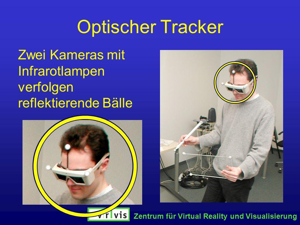 Optischer Tracker Zwei Kameras mit Infrarotlampen