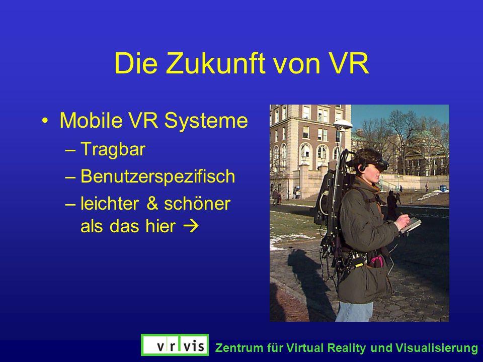 Die Zukunft von VR Mobile VR Systeme Tragbar Benutzerspezifisch