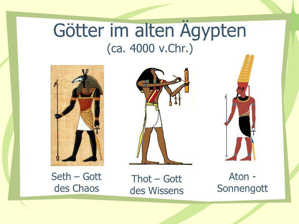 Götter im alten Ägypten (ca. 4000 v.Chr.)