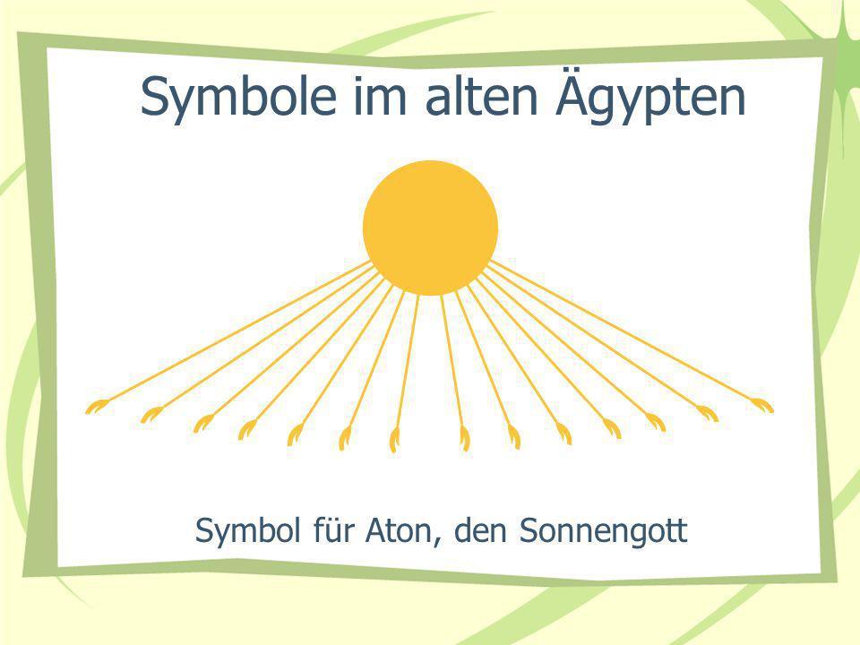 Symbol für Aton, den Sonnengott