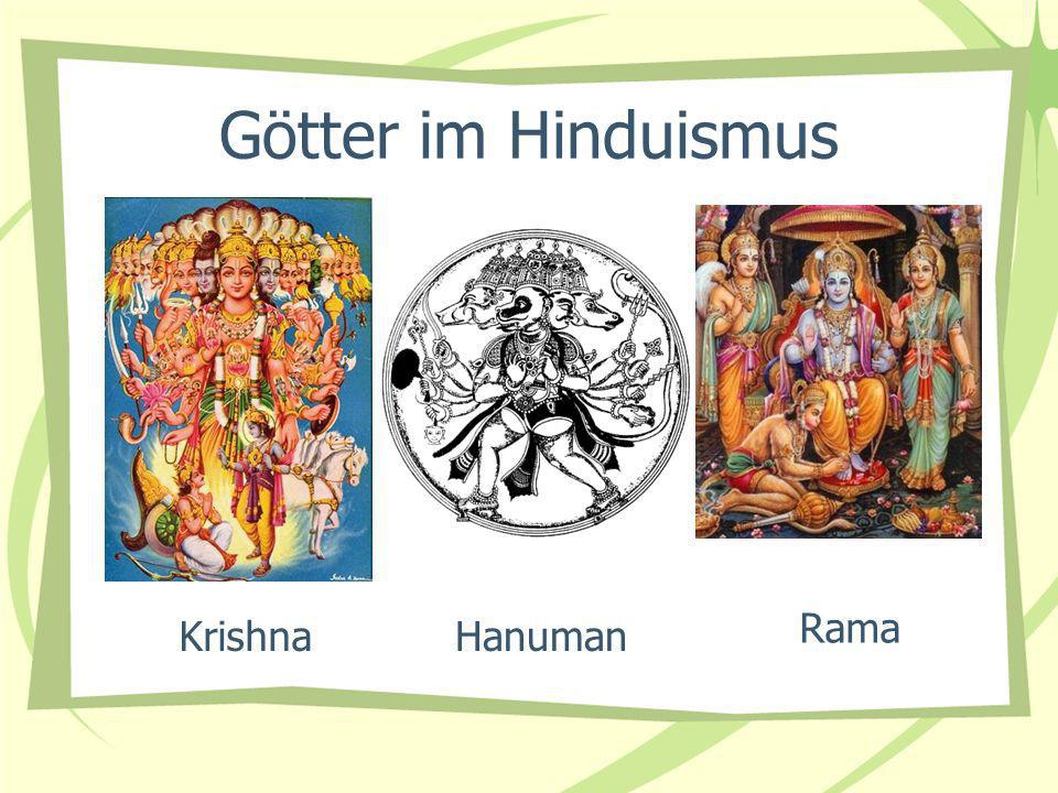 Götter im Hinduismus Rama Krishna Hanuman