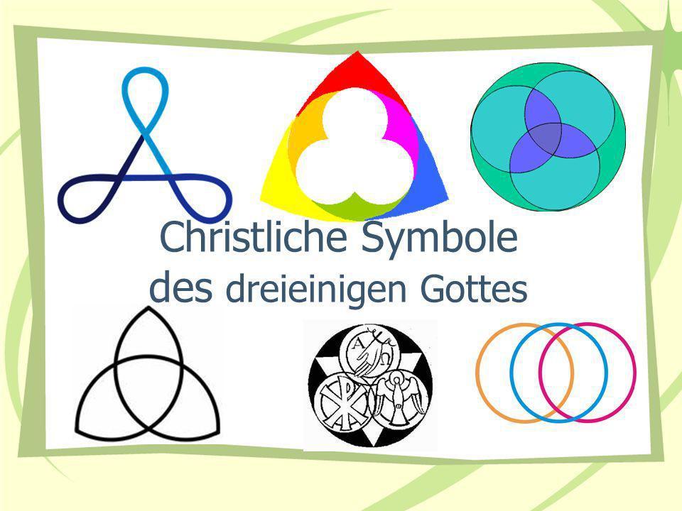 Christliche Symbole des dreieinigen Gottes