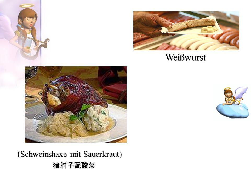 (Schweinshaxe mit Sauerkraut)