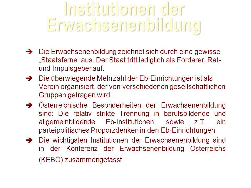Institutionen der Erwachsenenbildung